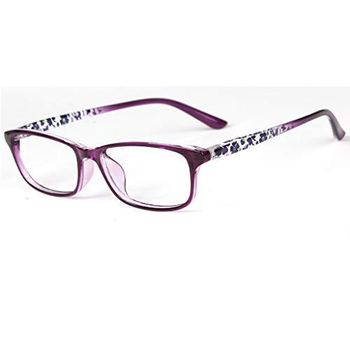 Das Ende der Wüste Anti-Blaue Lesebrille weibliche Mode ultraleichte HD alte helle Brille weiblichen Harz komfortable Anti-Müdigkeit Anti-Strahlung (Farbe : A, Ausgabe : +1.00) (Müdigkeit Wüste)