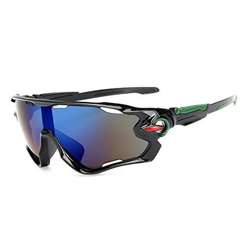 Sonnenbrillen Outdoor-Sonnenbrillen reflektierende explosionsgeschützte winddichte Spiegel Fahrrad fahren grünen Rahmen schwarzer Rand lila Quecksilber-Code