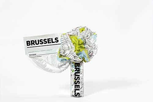Crumpled city map. Brussels (Crumpled City Maps)