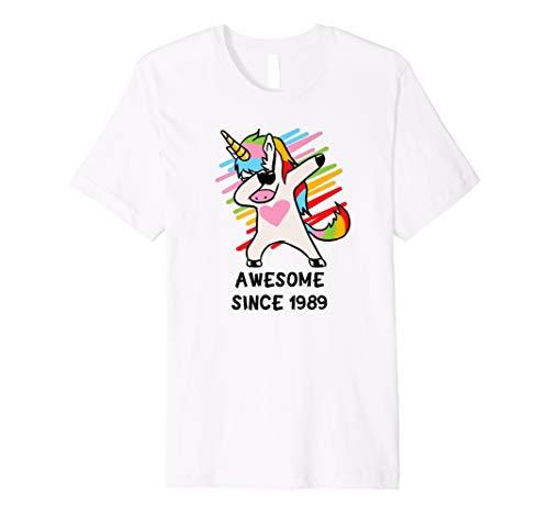 Awesome seit 1989 T-Shirt DAB Einhorn 29. Geburtstag Geschen