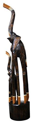 Salón Kult Elefante Escultura 100cm Madera Elefante