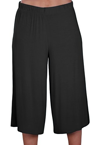 EyeCatch - Chloe Damen Breit Bein Moderne Hose Frauen Hosenrock Kurzschlüsse Hosen