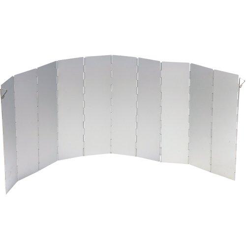BoCamp-Holland Campingkocher Windschutz, faltbar, Aluminium, 97x36 cm, silber: Gaskocher Kocher Faltwindschutz Alu