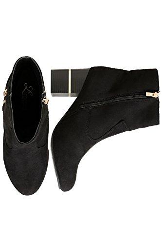Yours Clothing, Bottes pour Femme Noir