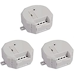 Myfox Modules encastrables pour Volets roulants DI-O-My Fox TA 3034 : Lot de 3
