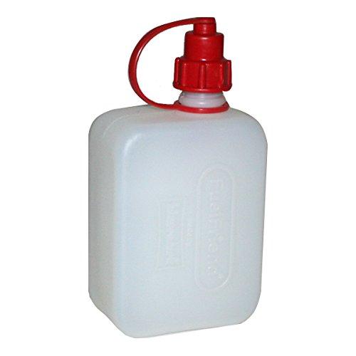 Preisvergleich Produktbild FuelFriend® CLEAR+OIL 0,5 Liter Ölkanister mit integriertem Füllrohr! Öl-Reservekanister für Motorräder, Roller