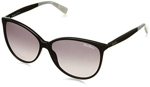 Max mara mm light ii eu 807 59, occhiali da sole donna, nero (black/grey sf)
