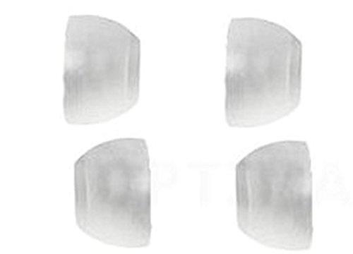 tomaxx 4x Aufsatz In-Ear Gummi Silikon White Ohrpolster Ersatz (weiche Silikon im weiß)für fast alle In-Ear Headset, Kopfhörer z.B von LG, Samsung, BlackBerry, Nokia, Sony Ericsson, Motorola, Jabra, HTC u.s.w.
