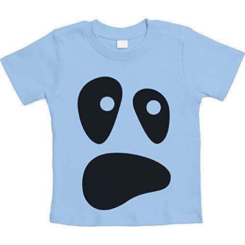Baby Ghost Halloween Kostüm Outfit Säugling Shirts Unisex Baby T-Shirt Gr. 66-93 18-24 Monate / 93 Hellblau
