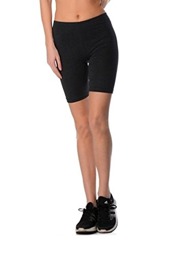 Dykmod Damen Kurze Leggings Shorts Sport Radlerhose mf7 40, Graphite