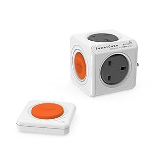 allocacoc PowerCube Original Remote Grey, Orange, White Power Plug Adapter Adaptor Plug for 76mm, 76mm, 137mm, 310g)