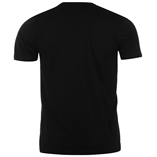 Pierre Cardin Herren Plain T-Shirt Kurzarm Rundhals Tee Top Bekleidung Schwarz