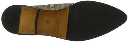 Melvin & Hamilton Jessy 5, Derby femme Grau (Crock Morning Grey + Gold Finish, Hrs)