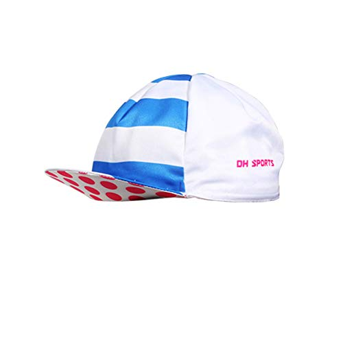 Denret3rgu Fashionable Breathable Quick Dry Running Cap Unisex Outdoor Sports Cycling Running Hat Blue + Pink