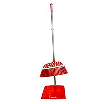 Alien Storehouse Durable Removable Broom und Dustpan Standing Upright Griffe Sweep Set mit Langem Griff, C4