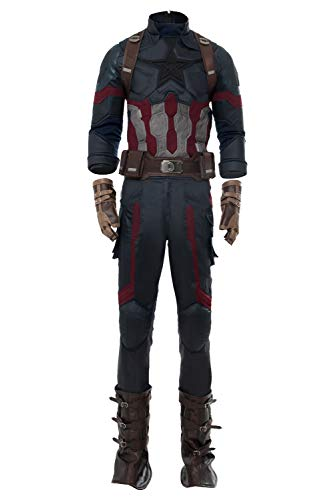 ar Captain America Steven Rogers Outfit Cosplay Kostüm New Version Herren L ()