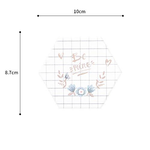 ZCHPDD Diatom Boue Coaster Hexagonal Coaster Absorbant Beau Coaster Isolation Bureau Décoration Coaster De Verre White 02 8.7 * 10Cm*2Pcs