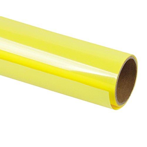 RUSPEPA 30.48Cm Vinile a trasferimento Termico per Magliette Fai-da-Te, Stampa a Caldo Indumento Artigianale - Rotolo da 92 cm (Giallo Limone)