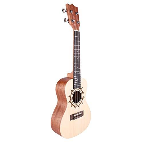 "Preisvergleich Produktbild RiToEasysports Ukulele,  U5 23-Zoll-Fichte gemalt 4 String Ukelele Hawaii Gitarre Musikinstrument Leichte tragbare 23""Classic Style"