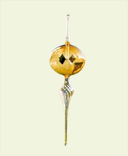 Bernstein Glas-modell (Lichtmühle venezianische Spindel Modell Spindel unten Kugel farbig (Bernstein))