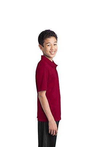 Port Authority Herren Button-down Poloshirt Rot - Maroon