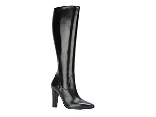 Saint-Laurent-heeled-knee-high-boots-in-black-Leather-Model-number-440877-AKP00-1000