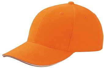 Myrtle Beach 6Panel Sandwich Cap in Kontrastfarben Gr. One Size, Multicoloured - Orange/White