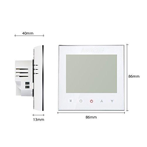 Anself WIFI Intelligenter Raumthermostat Elektroheizung Programmierbarer Temperaturregler mit LCD Touchscreen - 6