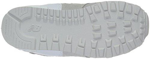 New Balance 574 High Visibility, Baskets Basses Mixte Enfant Grey/White (C9)