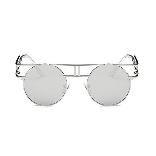 GAXIA Home Frauen Männer hohlen Metallrahmen Runde Objektiv UV400 Schutz Sonnenbrillen