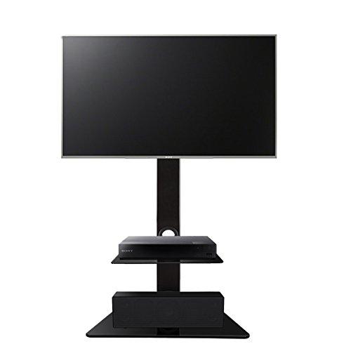 1home-LCDLED-TV-Fernseher-Stnder-Stand-Fernsehtisch-Standfuss-Glas-Standfu-Halterung-Hhenverstellbar-Fernsehstand-LED-Flachbildschirm-Rack-Tischstnder-fr-30-55-Zoll