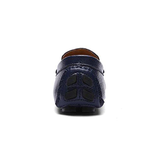 Baymate Chaussures Décontractés Pour Hommes Conduite Designer Mocassins À Enfiler Sombre Bleu