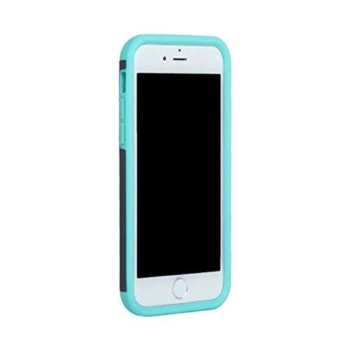 iPhone 7 Coque,Lantier Thin Frosted Matte Finish design antichoc 2 en 1 Combo Protection Defender Cover Retour Coque pour Apple iPhone 7 4.7 pouces 2016 Noir+Gris Grey+Mint Green