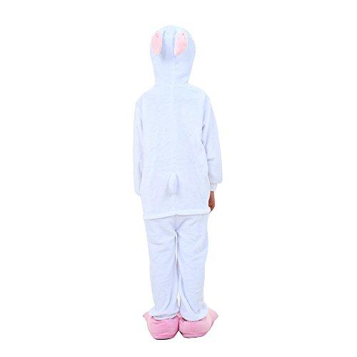 Misslight Rabbit Bunny Pajama Tute da donna Costumi animali Pigiama animale Con costumi di coniglio Adatto per un festival Adulto, Bambini Coniglio rosa