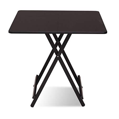 NJ Table Pliante- Table Se Pliante portative de ménage, Table de Salle à Manger Simple carrée de dortoir extérieur (Couleur : Noir, Taille : 70x70x74cm)