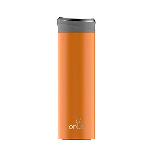 SINCERE@ Inoxydable vide en acier tasse tasse tasse de thé voiture d'affaires de l'eau portable froid Coupe droite (Vibrant Orange)