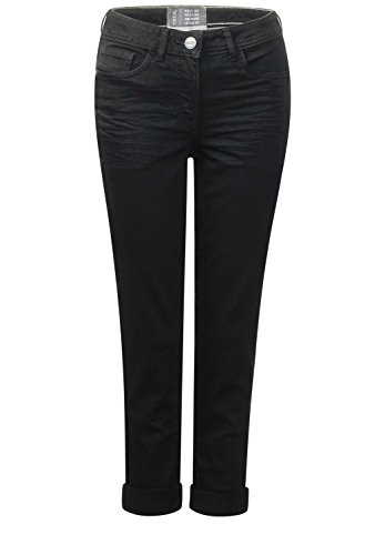 CECIL Damen Schmale Black Denim Toronto black denim (schwarz)