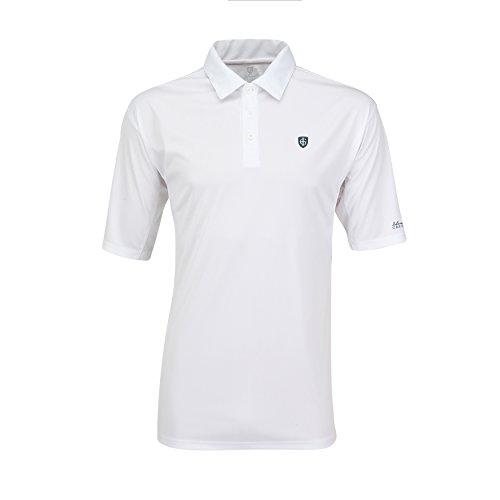 Hochwertiges Polo-Shirt Marke ISLAND GREEN Gr. 52 - 1460 White Streifen Polo, Raglan Ärmel, 3er Knopfleiste, Poloshirt mit LOGO Kragensteg sportlich atmungsaktiv extra Dry Gr. XXL Tennis shirt t-shirt (Raglan-Ärmel Herren)