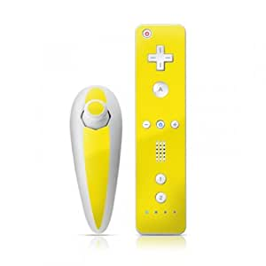 DecalGirl Nintendo Wii Remote und Nunchuk Skin Aufkleber Sticker - Solid State Yellow