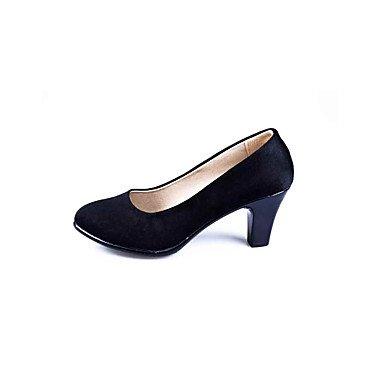 Zormey Frauen Heels Formelle Schuhe Komfort Stoff Fr¨¹hling Sommer B¨¹ro & Amp Karriere Dress Casual Ferse Schwarz 2-In-2 3/4 In US8.5 / EU39 / UK6.5 / CN40