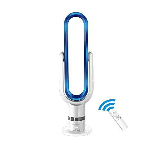 OMLTER Extrem Leise, Blattlose Kühlung Klimaanlage Tragbare Fernbedienung Befeuchtung/Reinigung Luftkühlventilator Smart Touch, Terminabstimmung,Blue (Baby Touch Sommer-monitor)