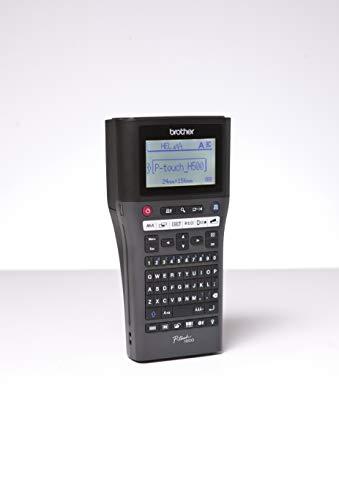 Brother P-Touch H500 Beschriftungsgerät mit PC-Anschluss (180 dpi, 3,5-24 mm breite TZe-Schriftbänder, USB) schwarz (2 Regal-drucker Stehen)