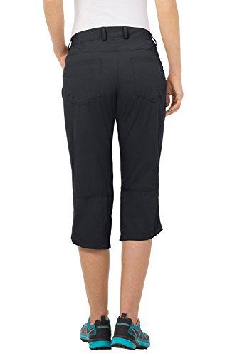 VAUDE 038745510420 Pantalon capri pour femme Farley IV Noir