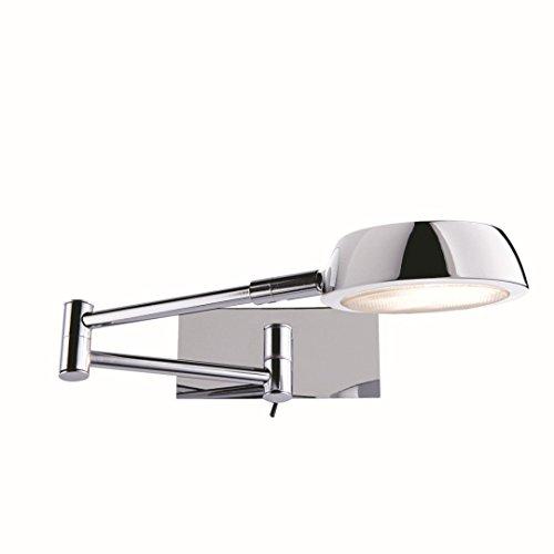 Wandleuchte in Chrom Bauhaus Design 1xGX53 bis zu 9 Watt aus Metall & Schlafzimmer Küche Wohnzimmer...