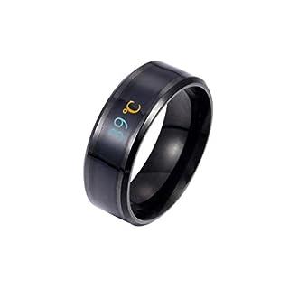 LSAltd Mode Neue Physikalische Intelligente Temperatur Paar Ring Stimmung Display Ring Magie