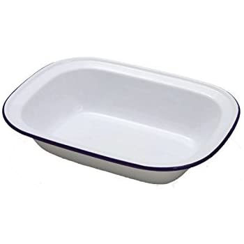Falcon Enamel Oblong Pie Dishes Set Of 3 20cm 22cm