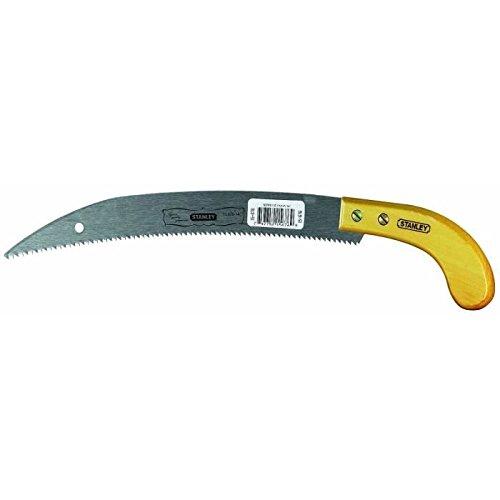 Stanley 1-15-676 Scie couteau de jardinier 355 mm avec manche bois