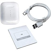YUnnuopromi i10 TWS Mini Soporte 5.0 Touch Auriculares inalámbricos con Caja de Carga de micrófono,