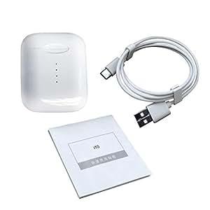 YUnnuopromi i10 TWS Mini écouteurs sans Fil avec boîtier de Charge Blanc