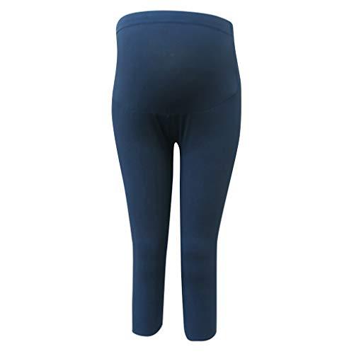 Topgrowth pantaloni premaman estate elastica gravidanza maternità pantaloni a vita alta donna incinta pantaloni a strisce crop leggings